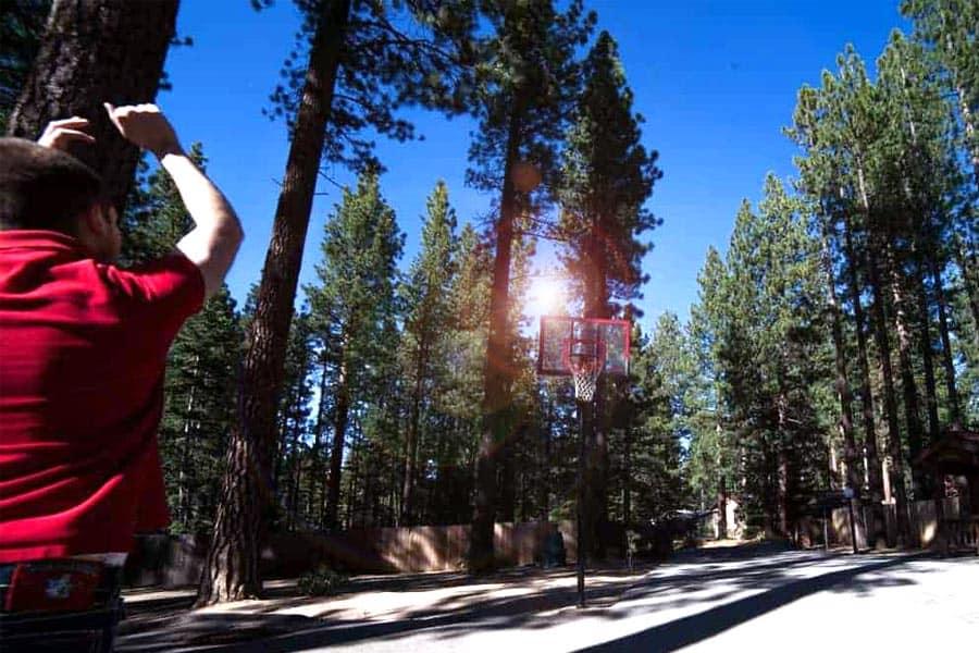 Elevate Lake Tahoe Playing Basketball